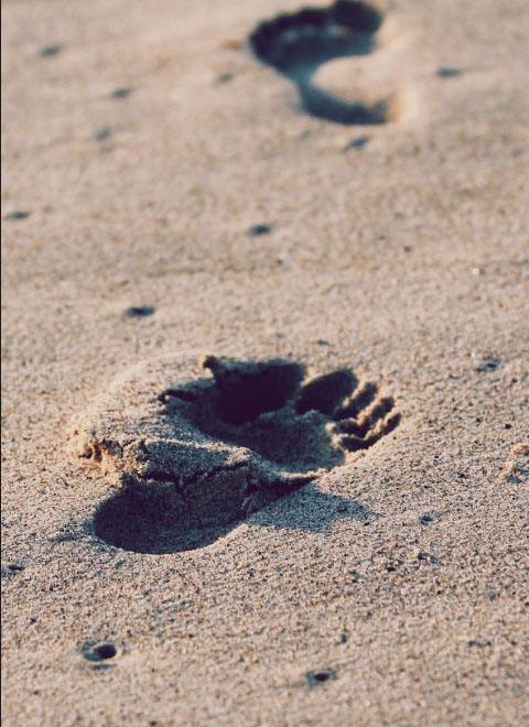 a footstep image